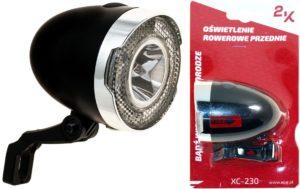 ŚWIATŁO POMOC. PRZÓD XC-230 BLACK BOX1SUPER JASNA LED 0,5 WATT 4xAAA czarna zwłacz.