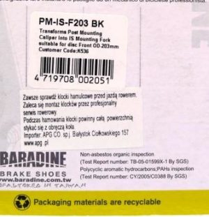 ADAPTER NA PRZEDNI WIDELEC PM-IS-F203Baradine,
