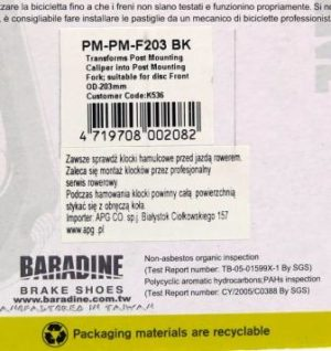ADAPTER NAPRZEDNI WIDELEC PM-PM-F203Baradine