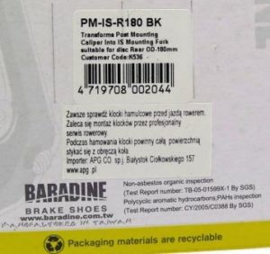 ADAPTER NA TYLNY WIDELEC PM-IS-R180Baradine,