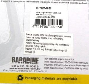 CENTER LOCK DO TARCZ HAM. BC-02 GOLDBaradine