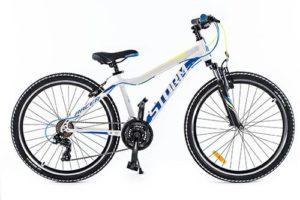 ROWER 26″ M RACER 15″ ALU 2xVBR bia/żół/biało żółto niebieski alu. 2xVBR steff