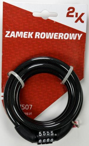 ZAMEK ROWEROWY 2K 87507/8-100 SZYFRkod stały