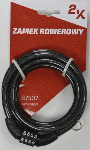 ZAMEK ROWEROWY 2K 87507/8-150 SZYFRkod stały