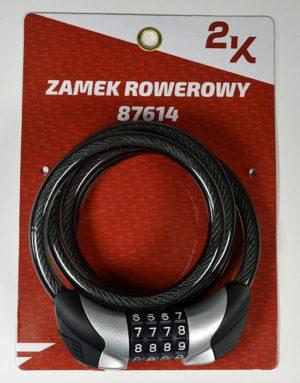 ZAMEK ROWEROWY 2K 87614/10-120 SZYFR/LEDpodświetlany