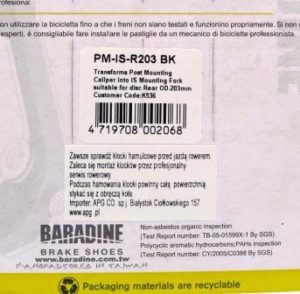 ADAPTER BARADINE NA TYLNY WIDELEC PM-IS-R203