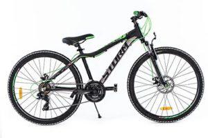 ROWER 26″ M RACER 15″ ALU 2xD  cza/zielczarno/zielony alu. 2xD steff
