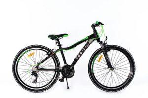ROWER 26″ M RACER 15″ ALU 2xVBR  cza/zieczarno/zielony alu. 2xVBR steff