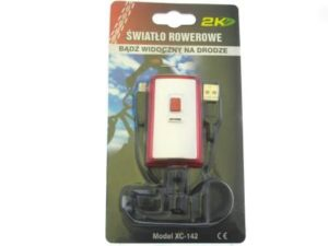 ŚWIATŁO POMOC. TYLNE 161060(XC-142)WHITE USB 2.0; 3,7V; 300mAh; 3 LED,