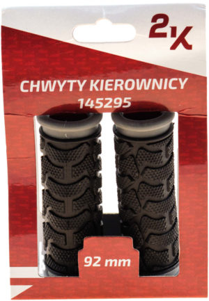 CHWYT KIER. HW 145295/B szaro-czar 92/92 guma PVC gripshift, blister