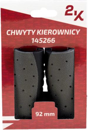 CHWYT KIER. HW145266/B czar-szar 92/92 guma kraton czarno-szare; 92/92mm