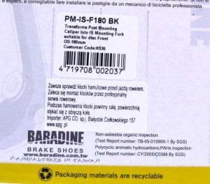 ADAPTER BARADINE NA PRZEDNI WIDELEC PM-IS-F180