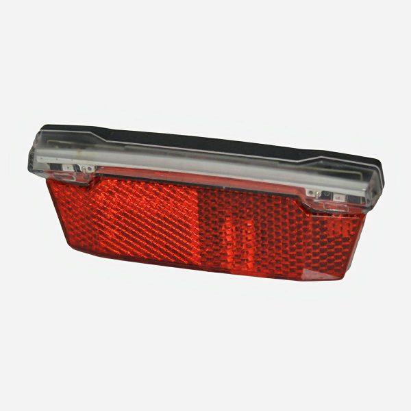 LAMPA TYŁ JY-555E E-BIKE BOXna bagażnik 80mm, 2 diody LED+ płytka COB(21LED)6V-48V;funkcja stop