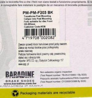 ADAPTER BARDINE NA PRZEDNI WIDELEC PM-PM-F203