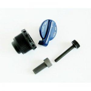 KOREK BLOKADY XCM-34 LO KOMPLETSRFKE028-58 (korek wkęcany  w goleń + zębatka + śuba) golenie 34mm